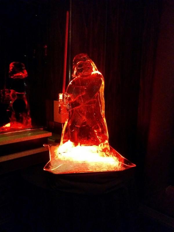 Darth Vader ice sculpture